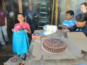 ..let's stop working and have a 10th birthday fiesta for Luis Pedro...